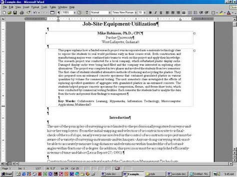 Research Paper Mla Format Abstract by Writing An Abstract Research Home Rachael Edwards