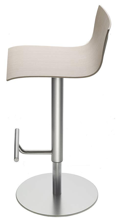 Thin Stool by Thin Adjustable Bar Stool Pivoting Wood Seat Black Oak
