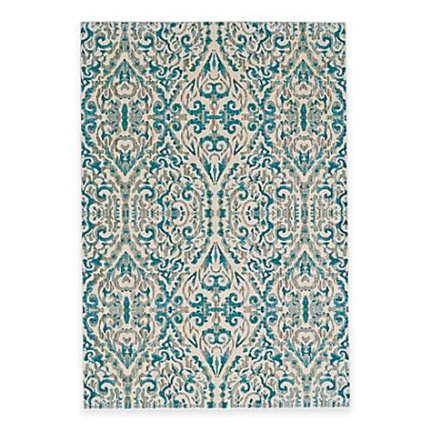 ikat bath rug feizy keaton ikat rug in turquoise bed bath beyond