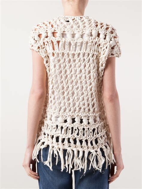 crochet knit top junya watanabe crochet knit top in lyst