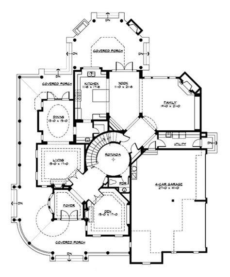 house blue prints astoria 3230 4 bedrooms and 4 baths the house designers