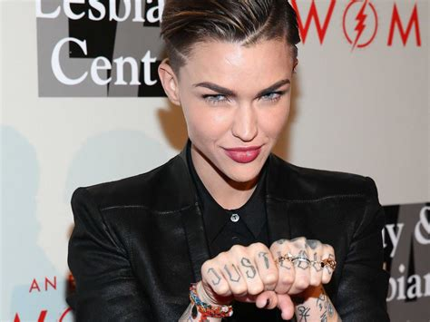 ruby rose tattoos ruby on sexuality and being gender fluid business