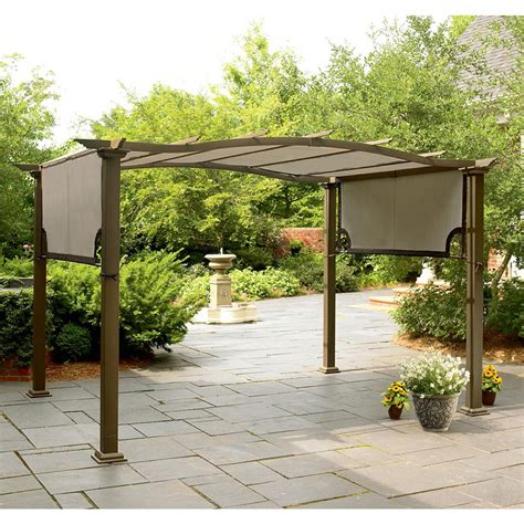 garden oasis curved pergola garden winds replacement gazebo cover for gazebos sold at