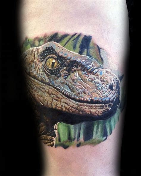 50 velociraptor tattoo designs for men dinosaur ink ideas