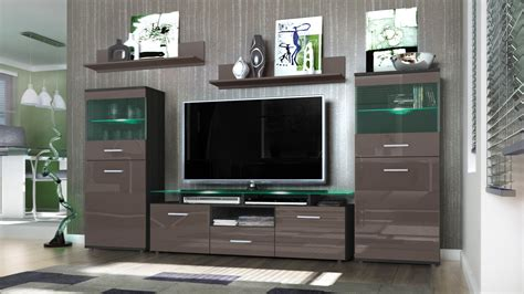 Black High Gloss Living Room Furniture by Wall Unit Living Room Furniture Almada Black High Gloss