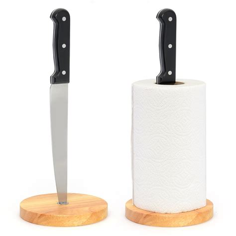 paper holder angry chef kitchen knife paper towel holder the green head