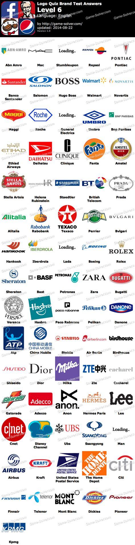logo quiz brand test level  game solver