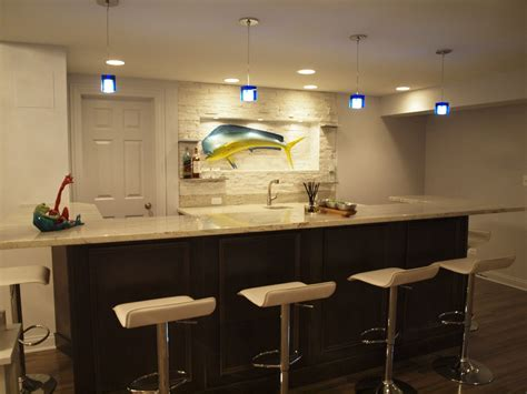 basement lighting design ideas convert your contemporary basement into livable space