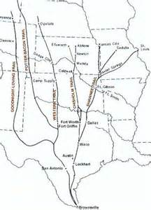 cattle trails map the cattle kingdom
