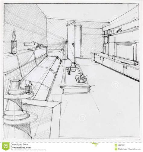 interior designing interior designs of drawing rooms drawing of interior living room stock illustration