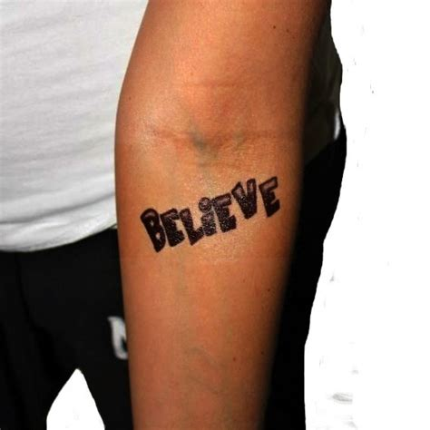 justin bieber believe tattoo font justin bieber tattoo believe tattoomagz