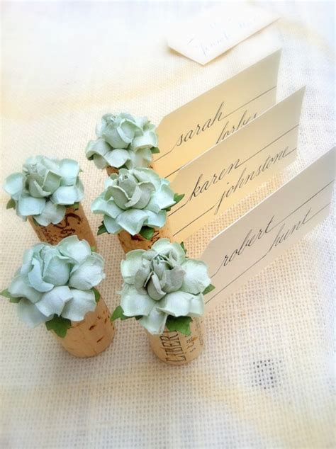 wedding name card holders whole tbrb succulent name card holder wedding wine themed bridal shower
