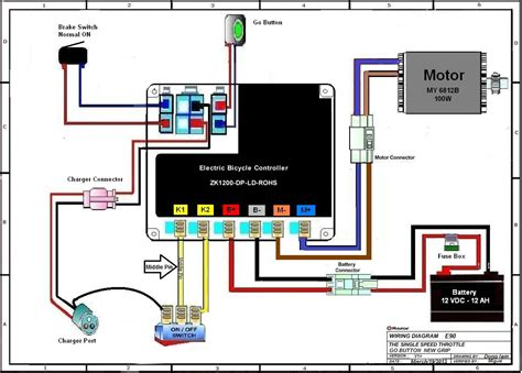 electric scooter controller wiring diagram electric free