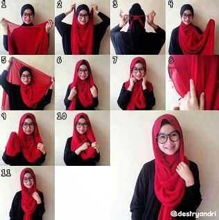 tutorial hijab segi empat untuk anak smp cara memakai jilbab segi empat untuk sekolah