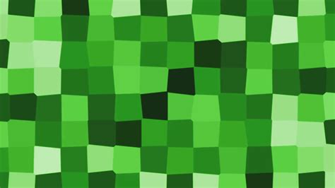 minecraft thumbnail background abstract cube mosaic motion background loop green