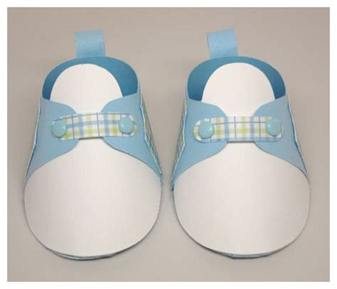 template for baby shower booties paper baby bootie pattern google search silhouette