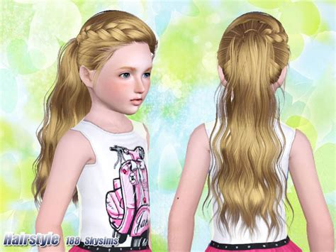 tsr kids hair skysims hair child 188