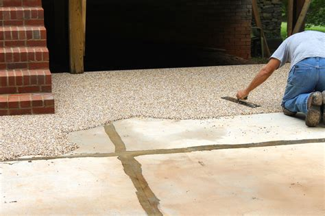 pea gravel and epoxy patio icamblog