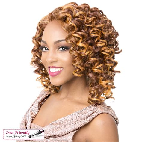 k curl wig emerson it s a wig synthetic iron friendly lace front