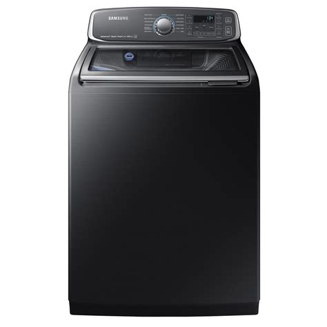 samsung washer samsung 5 2 cu ft high efficiency top load washer with steam and activewash in black stainless