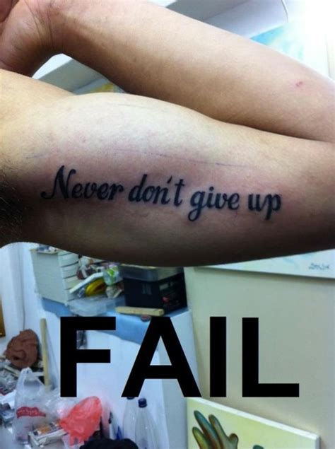 pin up tattoo fail it s always funny when your grammar mistakes are made
