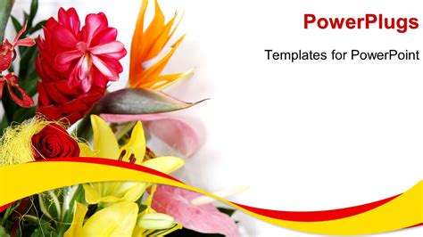Powerpoint Template A Close Up View Of Lots Of Flowers Over A White Background 31285 Birthday Card Powerpoint Template
