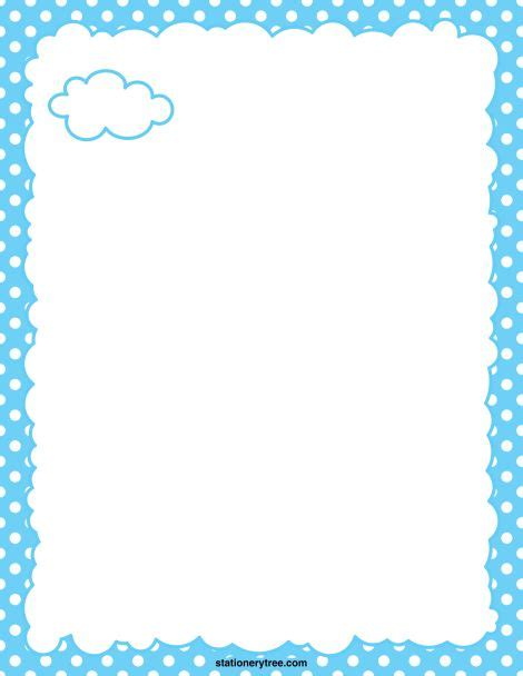 cloud writing paper printable cloud stationery and writing paper free pdf