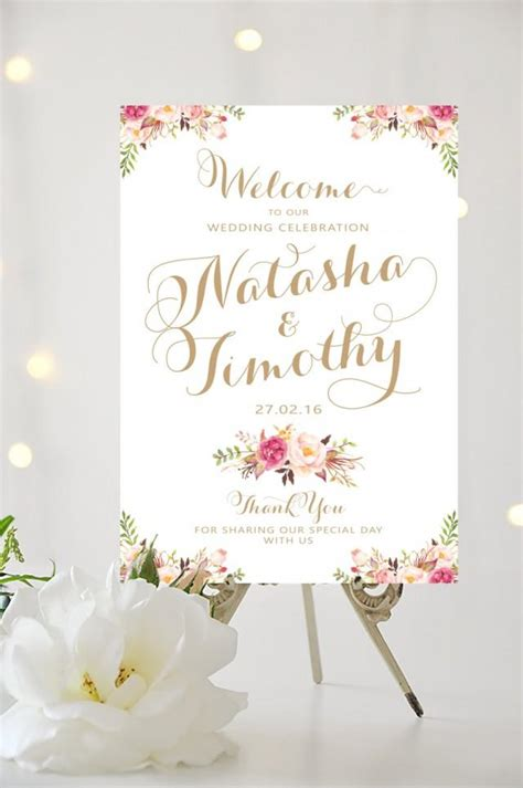 printable wedding poster wedding welcome posters pictures to pin on pinterest