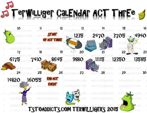 Act Calendar Terwilliger Event Calendar Act Threethe Simpsons Tapped