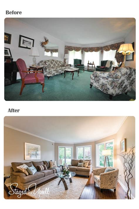 staging images before and after staged for upsell