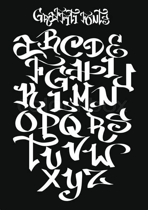 graffiti font alphabet vector stock vector colourbox