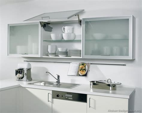 Modern Glass Kitchen Cabinets Pictures Of Kitchens Modern Two Tone Kitchen Cabinets Kitchen 153