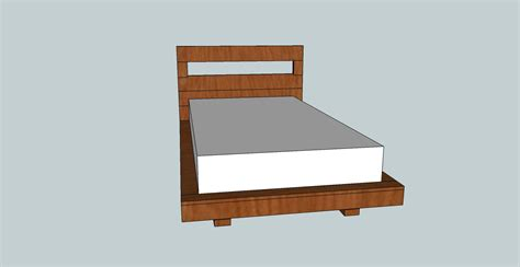 twin bed headboard plans twin size platform bed with cutout headboard ana white
