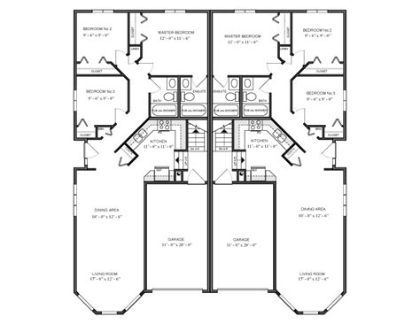 Duplex House Plans Canada 1096 Sq Ft Multi Family House Plan 1049 Canada