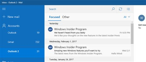 Office 365 Outlook Focused Inbox Microsoft Starts Roll Out Of Outlook Mail S Focused Inbox