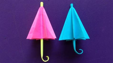 Umbrella Paper Craft - how to make a paper umbrella easy origami umbrellas for