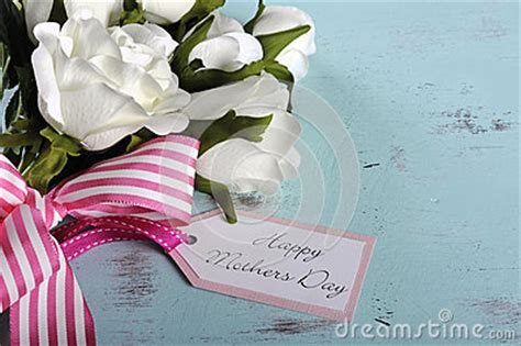 happy mothers day gift  white roses bouquet  copy