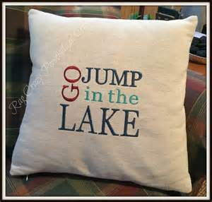decorative pillow covers lake house decor embroidered lake