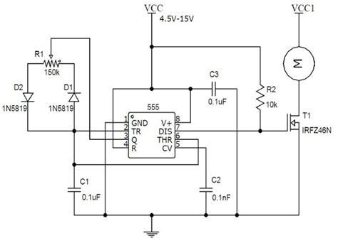 speed controller motor circuit diagram carspart