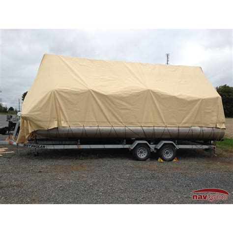 navigloo pontoon boat covers cover for pontoon 23 24 ft with tarp 19x39