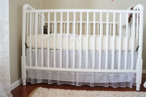 Beige Crib Skirt tulle crib skirt transitional nursery benjamin