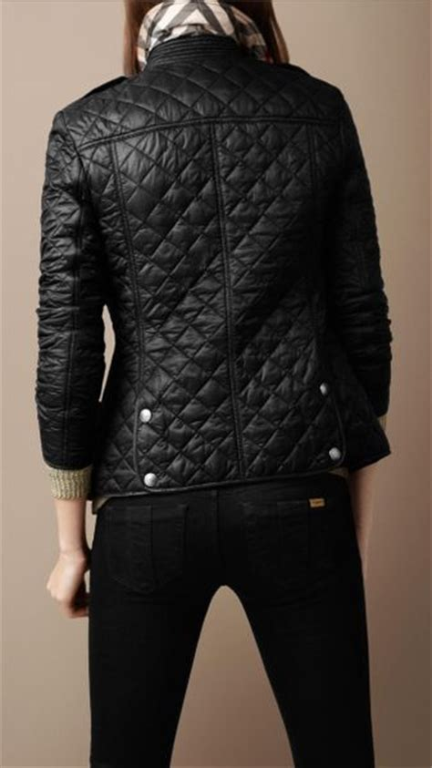 Burberry Black Quilted Jacket by Burberry Quilted Jacket In Black Lyst