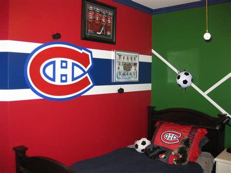 chambre canadien chambre garcon canadiens hockey soccer habs