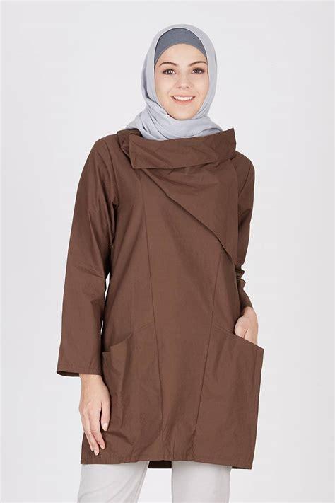 Atasan Havva Aino Top Brown sell caltha top brown tops hijabenka