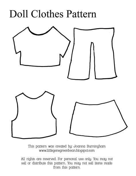 clothes pattern maker free little gene green bean four quick easy and cheap