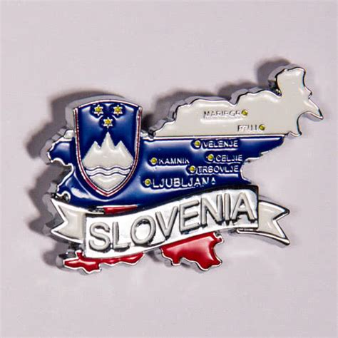 Magnet Norwegia Souvenirs metal fridge magnet slovenia limited edition map of