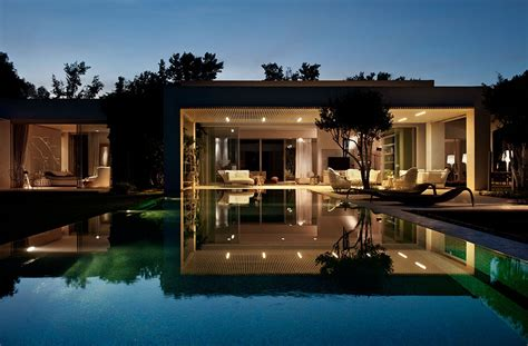 tastefully decorated modern style villas to nature