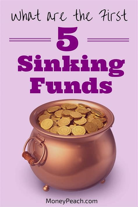 What Is A Sinking Fund start with these 5 sinking funds money