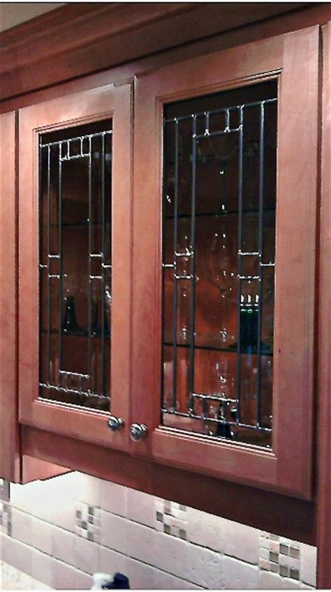 leaded glass for kitchen cabinets custom leaded beveled glass kitchen cabinet panels mclean stained glass studios