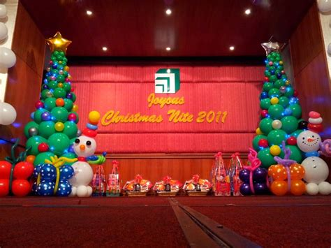 christmas stage decoration stage decor theme winter sculpture sibu and kuching